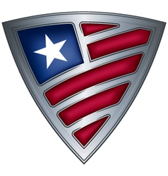 steel shield with flag liberia vector image vector image