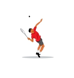 Tennis man sign vector image vector image