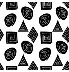 The pattern of black and white geometric shapes vector image