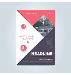 Brochure layout design vector image