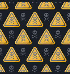 Danger sign flat seamless pattern vector