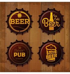 Bottle cap design beer labels vector