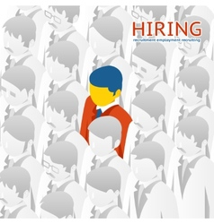Choice person for hiring vector