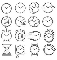 icon set clock vector image