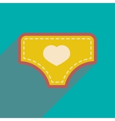 Modern flat icon with long shadow child underpants vector