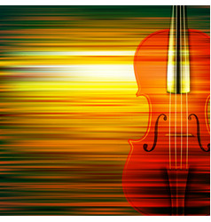 Abstract green blur music background with violin vector