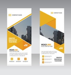 Business roll up banner flat design template set vector