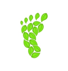 Eco footprint icon cartoon style vector