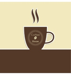 Abstract background with a cup of coffee vector image vector image
