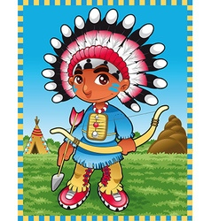 Baby Indian Boy vector image vector image