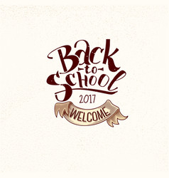 back to school vintage label vector image
