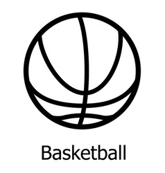 basketball icon simple black style vector image vector image