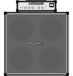 Bass guitar amplifier vector