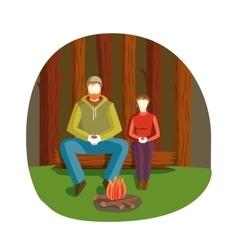 Bonfire night vector image