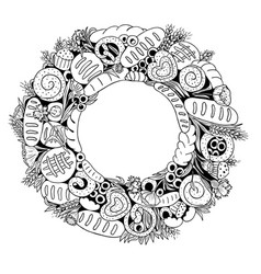 bread wreath vector image vector image
