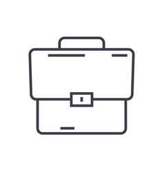 briefcase line icon sign on vector image