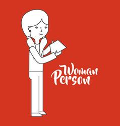 Cartoon woman person vector