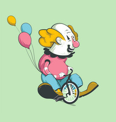 clown on bike vector image vector image