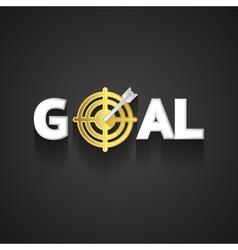 Elegant goal logo design on gray background vector