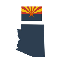 Flag of the us state of arizona and map vector