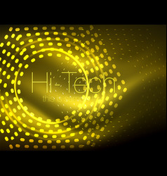Glowing neon dotted shape abstract background vector