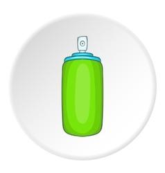 Green air freshener aerosol bottle icon vector