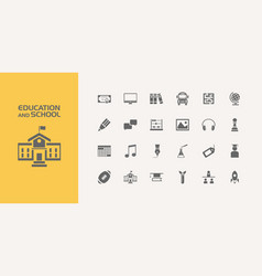 group of twenty education and school icons vector image vector image