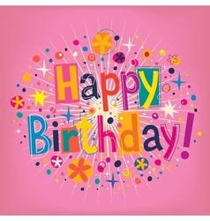 Happy Birthday 8 vector image