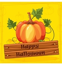 Happy Halloween Autumn Orange Pumpkin Vegetable vector image vector image