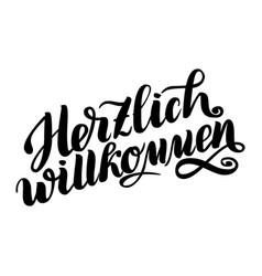 Herzlich willkommen welcome traditional german vector