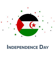 independence day of western sahara patriotic vector image