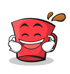 Laughing red glass character cartoon vector