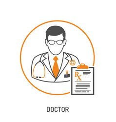 medical prescription concept vector image vector image