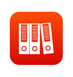 Office folders icon digital red vector