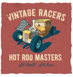 racers hot rod masters poster vector image