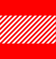 red and white stripes diagonally sign the size vector image vector image