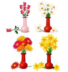spring and summer flowers vector image vector image