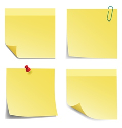 Sticky Notes vector image vector image