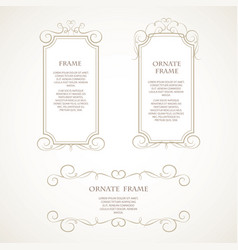 template design frame vector image