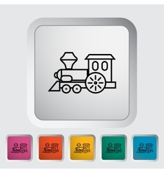 Train toy vector image vector image