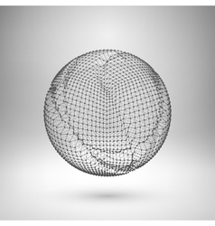 Wireframe mesh polygonal element Sphere with vector image vector image