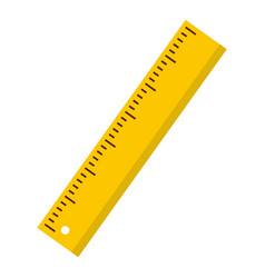Yellow ruler icon isolated vector