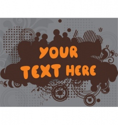 your text here vector image vector image