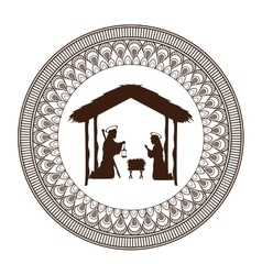 Joseph mary holy family christmas design vector