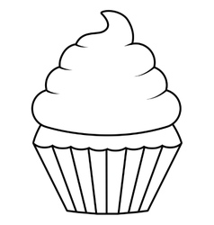 Muffin dessert design vector