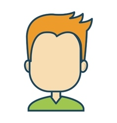 Male avatar character isolated icon vector