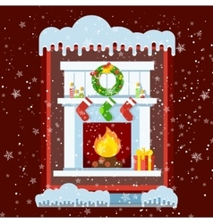 Window cold outside vector