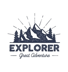 Outdoor explorer badge Retro of vector image