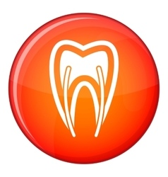 Tooth cross section icon flat style vector