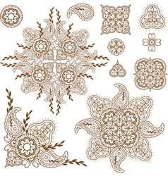 Paisley pattern set vector